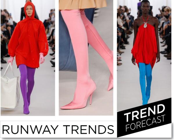 เทรนด์รองเท้าบูทสีแสบจาก Balenciaga