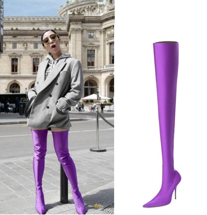 พลอย หอวัง เทรนด์รองเท้าบูทสีแสบจาก Balenciaga