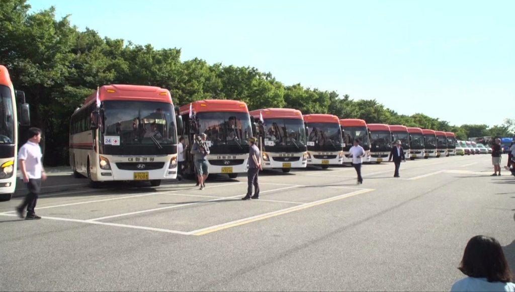 งานรวมญาติสองเกาหลี บัส